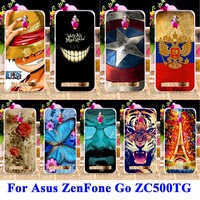 AKABEILA Soft TPU & Hard PC Cell Phone Covers For Asus ZenFone Go ZC500TG zenfone Go Z00VD GoZ00VD 5.0 inch Shell Cover Skin Bag