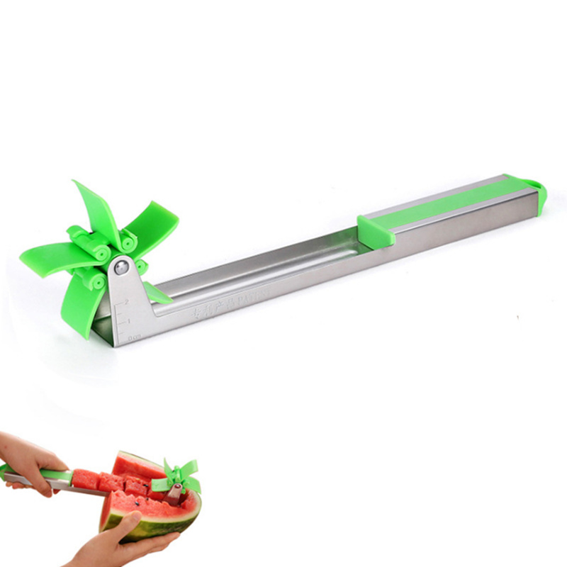 Kitchen-Fruit-Watermelon-Knife-Slicer-Stainless-Steel-Windmill-Cutting-Spoon-Corers-Knife-Fruit-Salad-Tool-For
