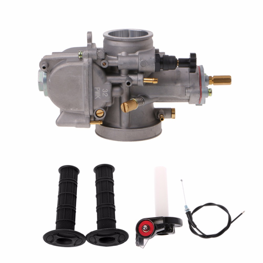 28/30/32/34/38/40mm Universal Motorcycle Carburetor For Keihin Carb PWK Mikuni With Power Jet+hand grips case original 26mm mikuni carburetor for cbt125 cb125t cbt250 ca250 carburador de moto