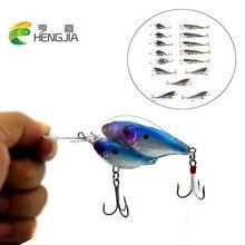 Hengjia 3D eyes plastic hard baits group fishes crankbaits popper lures lifelike minnow diving swim pesca fishing tackles