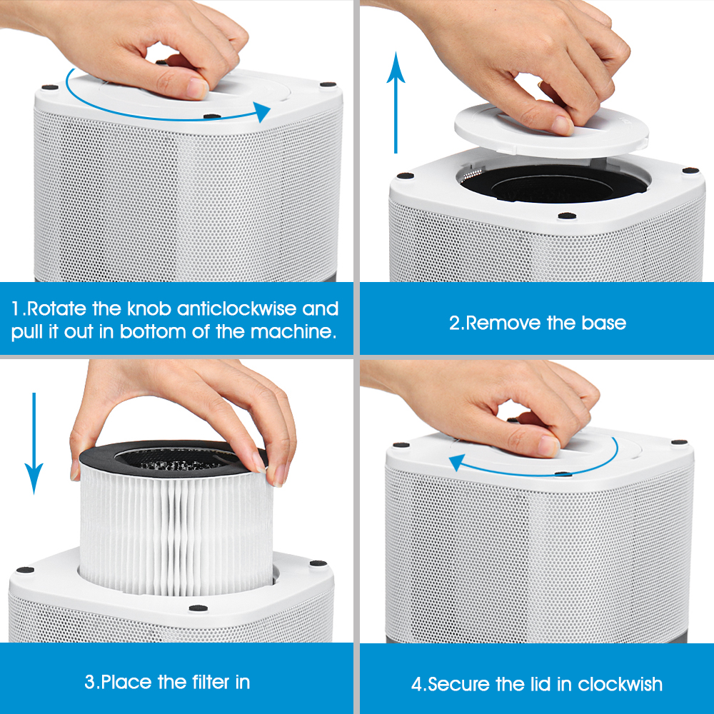 AUGIENB Air Purifier with Replaceable HEPA Filter to Reduce Peculiar Odor and Smoke from Home 4