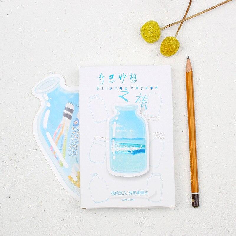 30Sheets/Pack Strange Voyage Irregular Postcard Fashion Paper Bookmark Greeting Cards Kids Gift Memo Card Cute Stationery