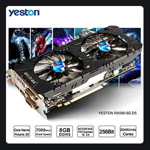 Hot Sale] Yeston Radeon RX 550 GPU 4GB GDDR5 128bit Gaming Desktop
