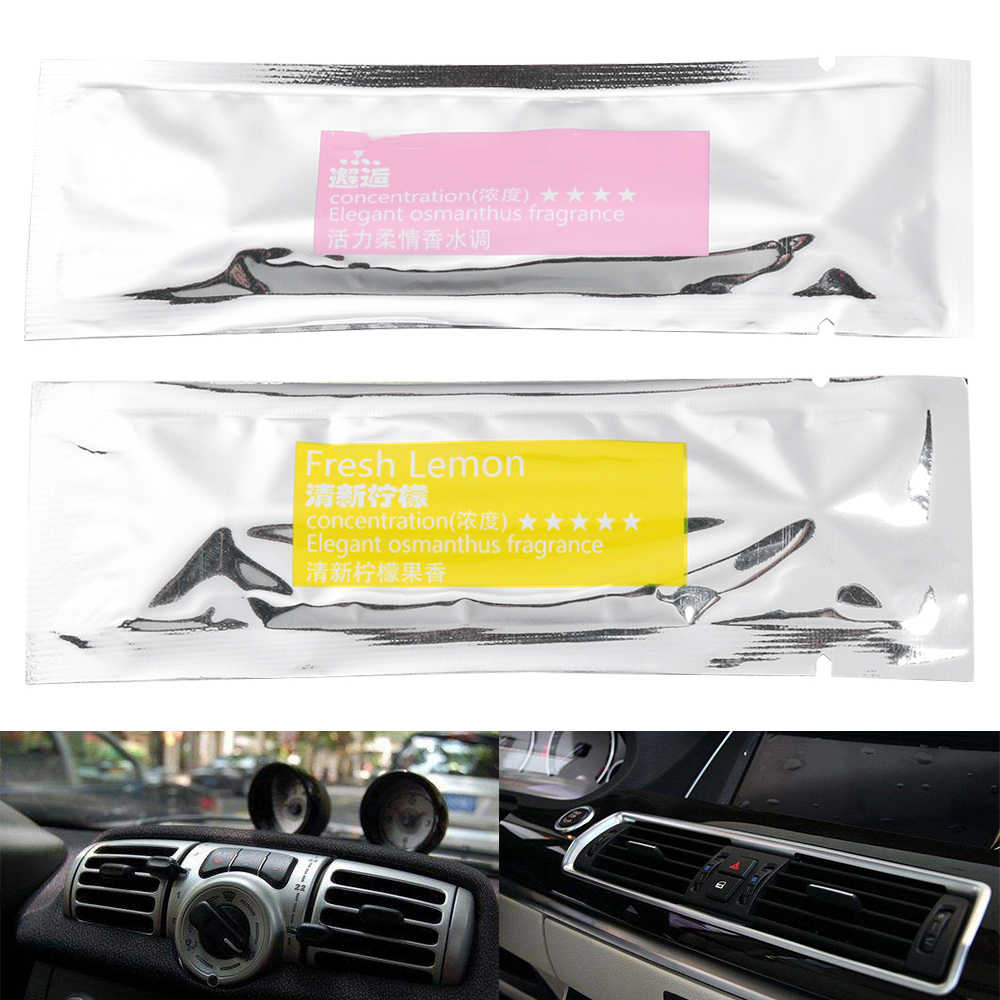 1PC Car Perfume Air Freshener Car Styling Air Conditioner Vent Air Freshener Perfume Supplement Interior Accessories