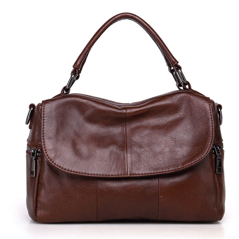 ICEV Brand new casual 100% genuine leather women handbag designer high quality boston tote bags pillow clutch messenger bag lady icev 100