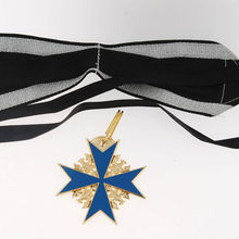 Deutsches Пруссия синий Макс Pour le Merite с золотыми листьями дуба значок медаль