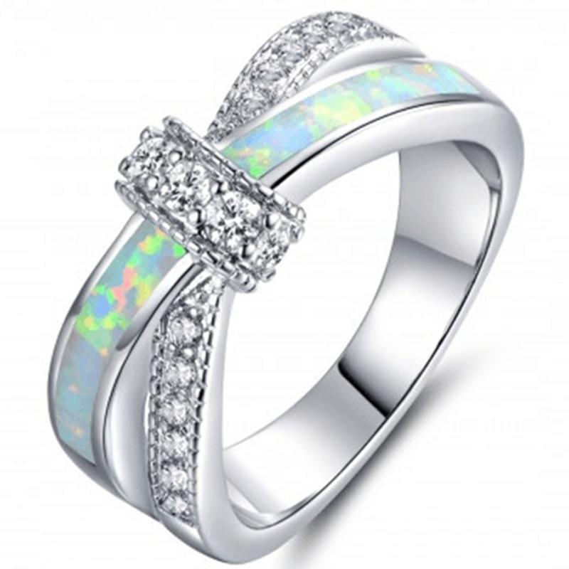Size 4 12 Stering Silver 925 Australian Fire Opal Ring