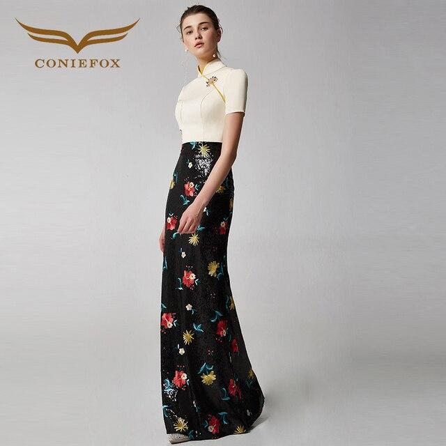 420d8afbba77 Coniefox 31901 fiore nobile elegante banchetto del vestito da sera vestito  da partito di promenade vestiti