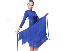 New Latin costume female adult dress Latin dance skirt girl professional skirt exercise dress skirt summer with safety pant