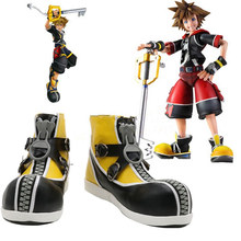 Game Kingdom Hearts 2 Sora Cosplay Shoes Boots Custom Made