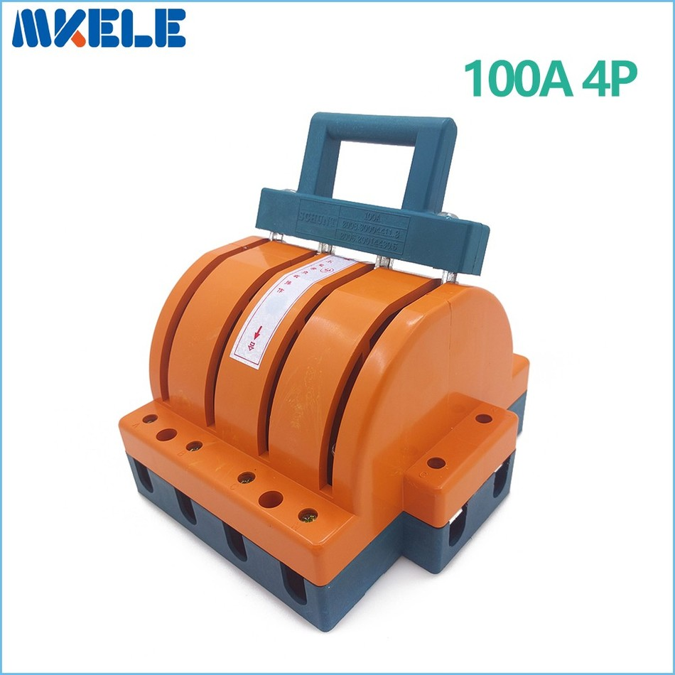 Wholesale Heavy Duty 100A 4p Double Throw font b Knife b font Disconnect Switch Delivered Safety