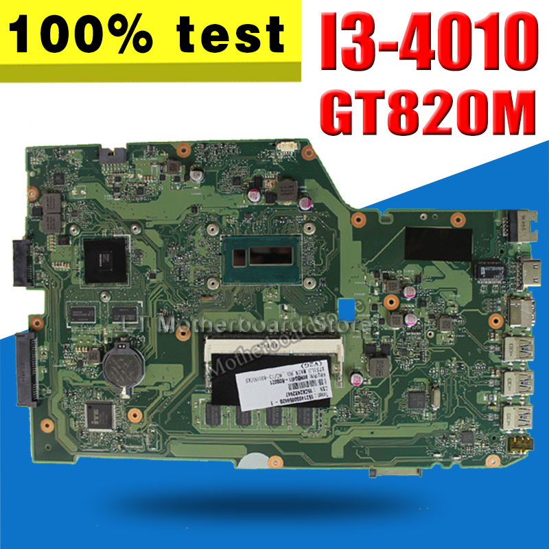 X751LD Motherboard REV:2.0 gt820m 2GB I3 For ASUS K751L X751L X751LN Laptop motherboard X751LD Mainboard X751LD Motherboard original x751ld rev 2 0 for asus x751ln x751lj k751l laptop motherboard ddr3 with i7 4710 cpu 4gb ram mainboard 100% tested