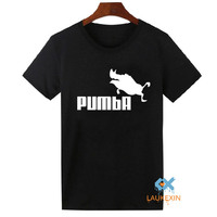 2016 Funny Tee Cute T Shirts Homme Pumba Men Women 100 Cotton Cool Sport Tshirt Lovely