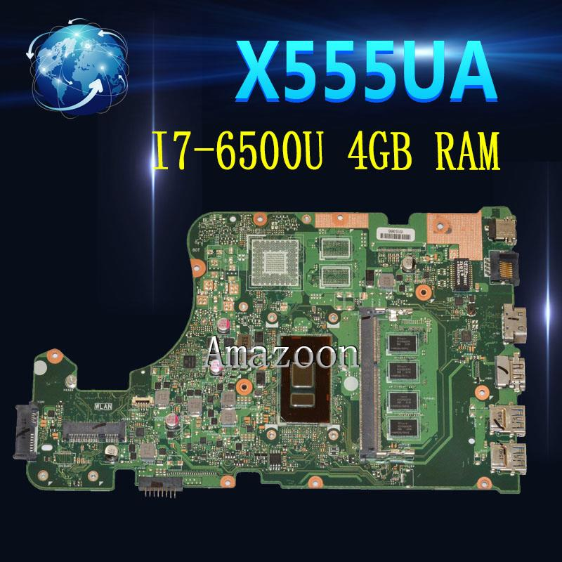X555UA Motherboard I7-6500U 4GB RAM For ASUS X555 X555U X555UA X555UB Laptop Motherboard X555UA Mainboard X555UA Motherboard