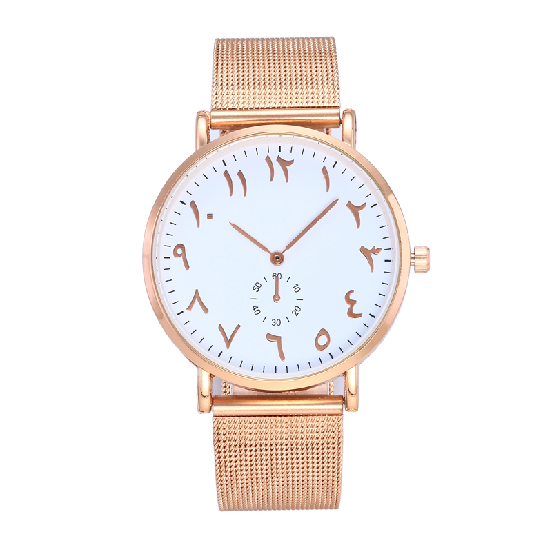 Top Brand Fashion Arabic Numbers Women Watch Luxury Ultrathin Mesh belt Ladies Quartz Wristwatch Relogio Feminino Dames Horloge