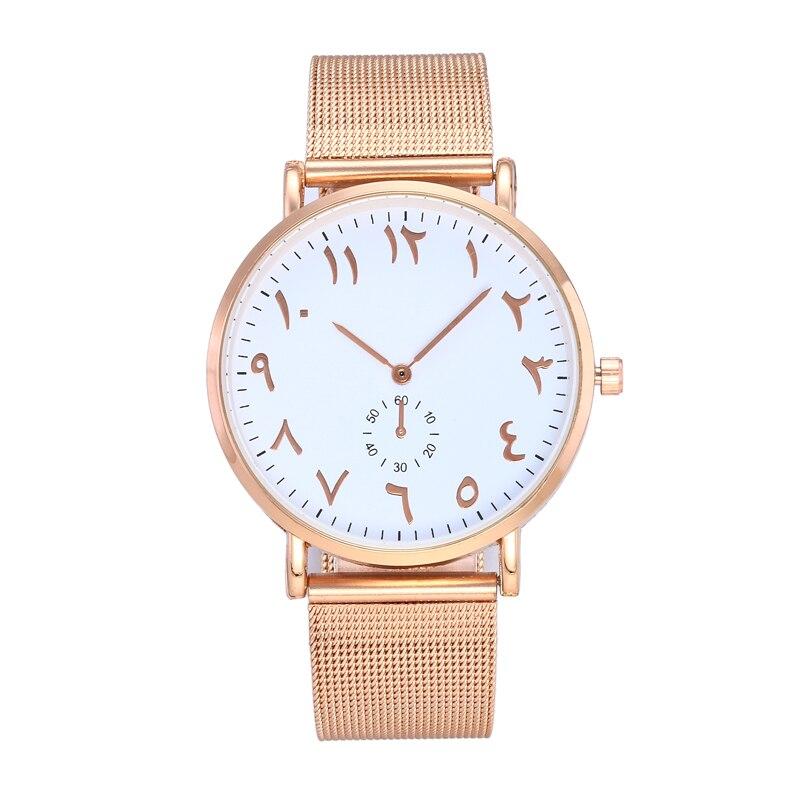 Top Brand Fashion Arabische Cijfers Vrouwen Horloge Luxe
