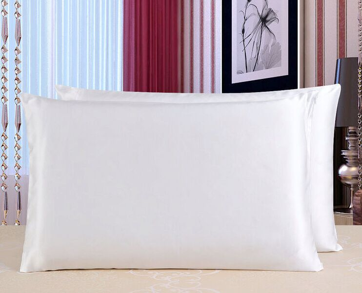 Howmay 19m/m 100% pure silk pillowcase silk satin charmeuse fabric double side standard queen size 51cm*76cm