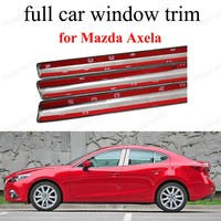 Zubehör mit mittelsäule Dekoration Streifen edelstahl Voll-fenster-ordnung Für M-azda Axela