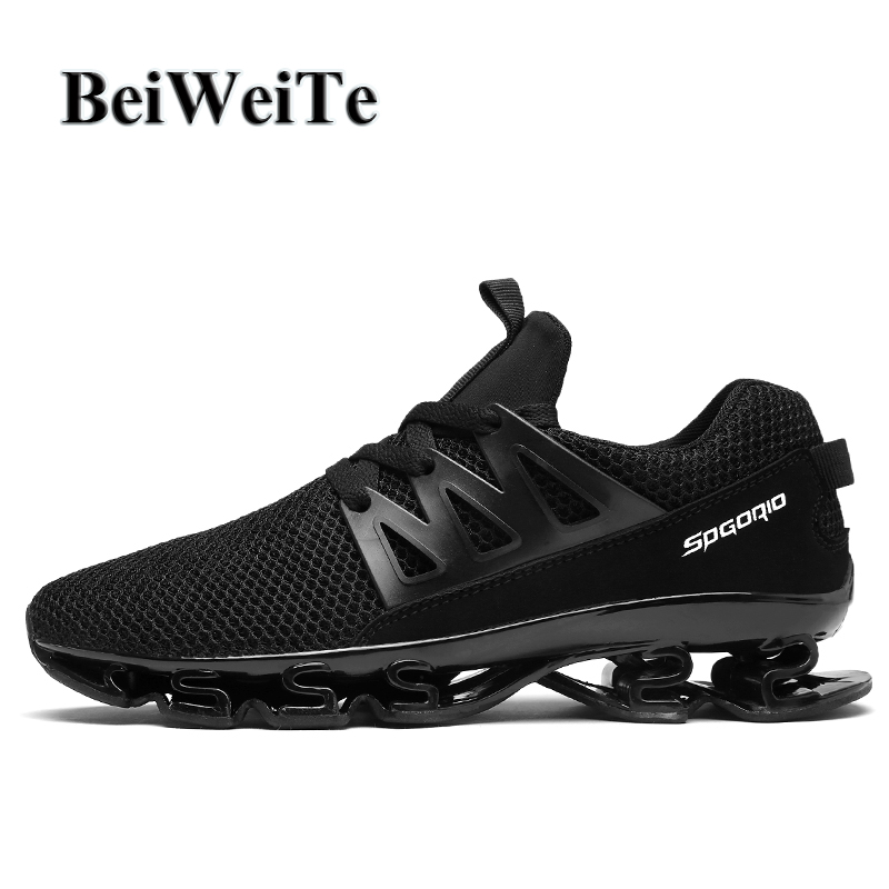 2018 Men's Big Size Sneakers Running Shoes Breathable Blade Anti-skid Cushioning Trail Walking Autumn Winter Outdoor Sport Shoes