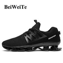 Купить с кэшбэком Men's Blade Running Sports Shoes Big Size Light Anti-skid Cushioning Male Sneakers Summer Breathable Outdoor Trail Walking Shoes
