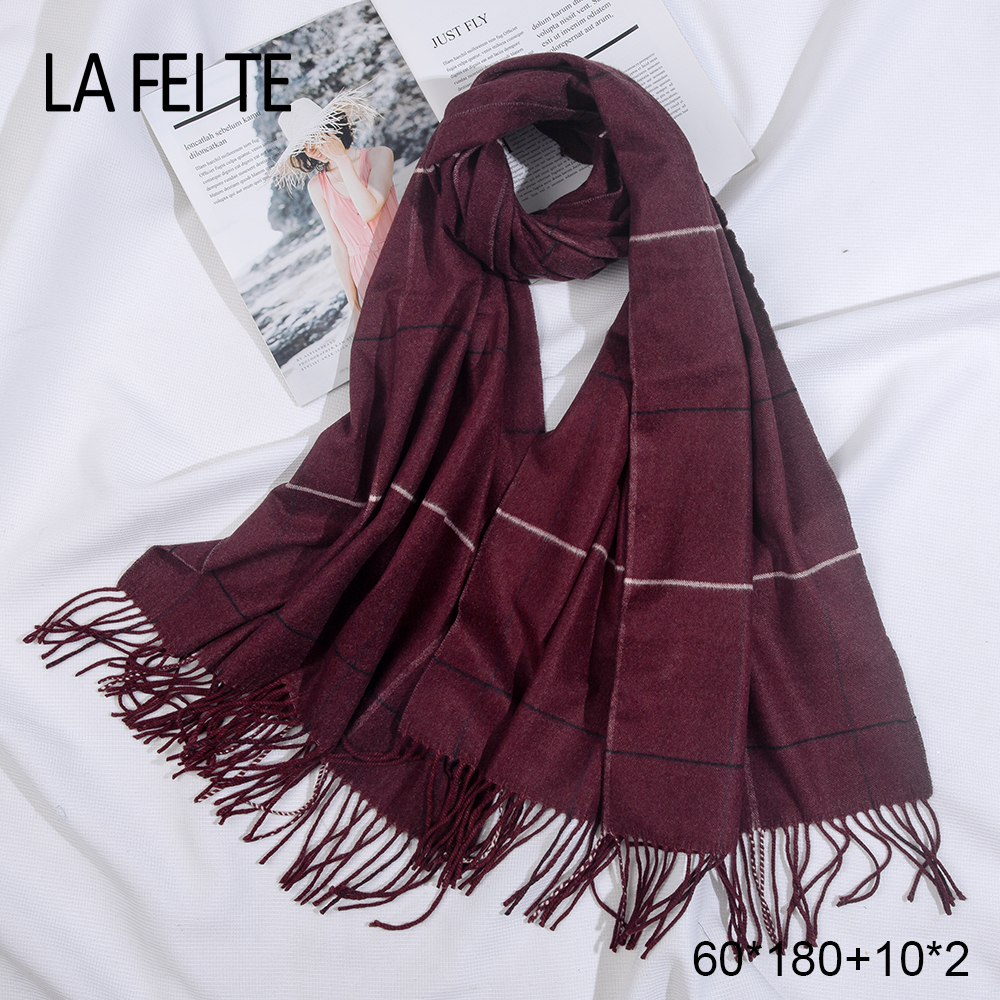 Winter 100 Pure Cashmere Scarf Women Pashmina Shawl Men 39 s Crinkle Hijab Stoles Female Snood Warm Blanket Women Scarf For Ladies in Women 39 s Scarves from Apparel Accessories