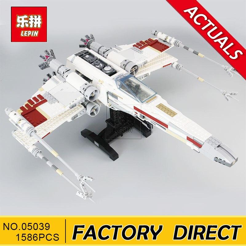Lepin 05039 1586 pcs UCS The X-wing Rebel Red Five X-wing Starfighter Set Building Blocks Bricks 10240