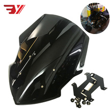 BYSPRINT New Item Motorcycle Parts WindScreen Windshield Visor Viser Fit For YAMAHA FZ07 MT-07 MT07 2018-2019 Double Bubble