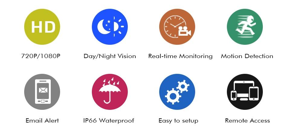 Hiseeu CCTV camera System 4CH 720P/1080P AHD security Camera DVR Kit CCTV waterproof Outdoor home Video Surveillance System HDD