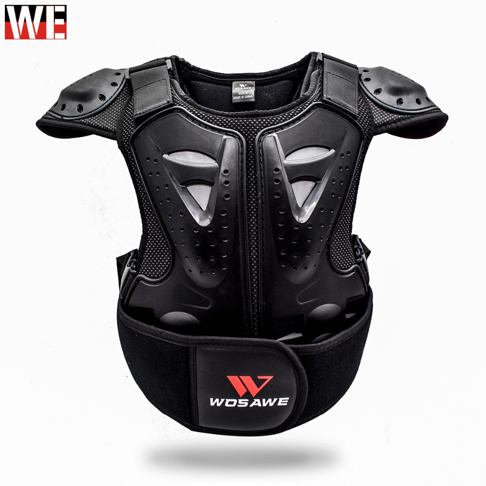 WOSAWE Children Motorcycle Amour Chest Protector Back Spine Support Kids Body Protect Gear For Motocross Scooter