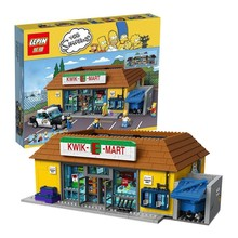 Presale Lepin 16004 The Simpsons Bart Homer Kwik-E-Mart Minifigure Action Figures Model Building Block Bricks Compatible 71016