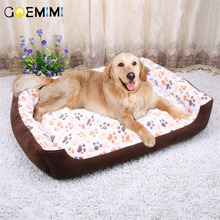 S-3XL Paw Pet Sofa Dog Beds Waterproof Bottom Soft Fleece Warm Cat Lovely Bed House Nest Kennel