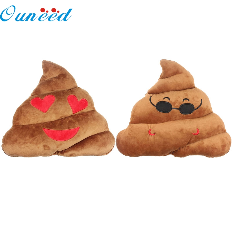 May 20 Mosunx Business Amusing Emoji Emoticon Cushion Heart Eyes Poo Shape Pillow Doll Toy Throw Gift