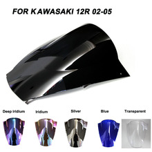 ABS Windscreen For Kawasaki Ninja ZX12R ZX-12R 2002 2003 2004 2005  Motorcycle Windshield Iridium Wind Deflectors motorcycle for kawasaki zx12r 2000 2001 2002 2003 2004 2005 zx 12r zx 12r motorcycle aluminum gear shift lever pedal