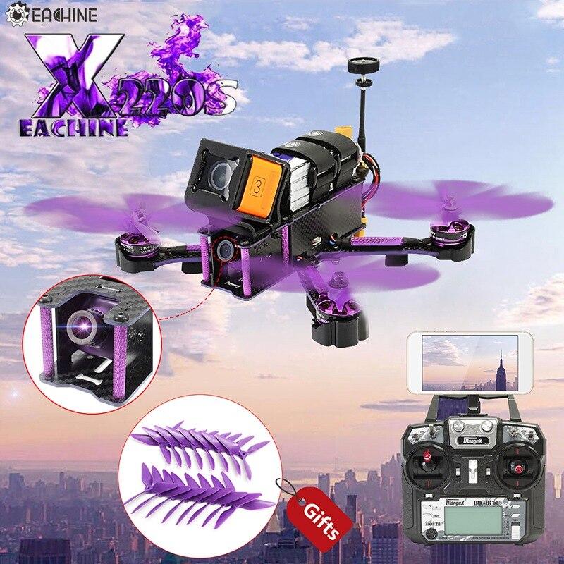 Eachine Assistant X220S FPV Racer RC Drone F4 5.8g 72CH 30A Dshot600 800TVL Flysky FS-i6X Trnsmitter RTF Racing Multi jouets Rotor