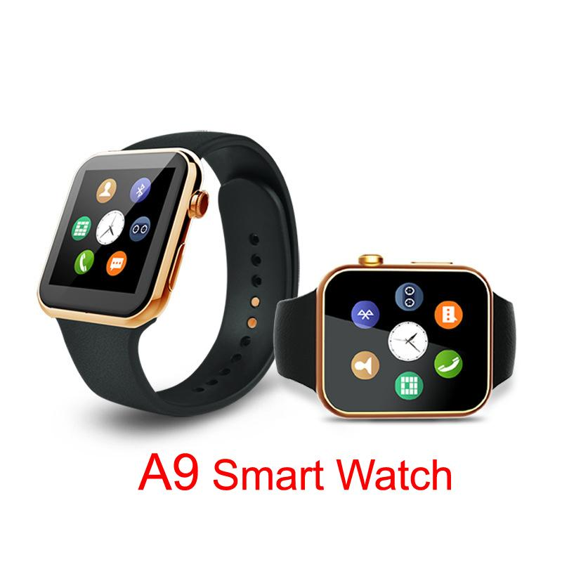 2016 New Smartwatch A9 Bluetooth Smart watch for Apple iPhone IOS Android Phone relogio inteligente reloj Smartphone