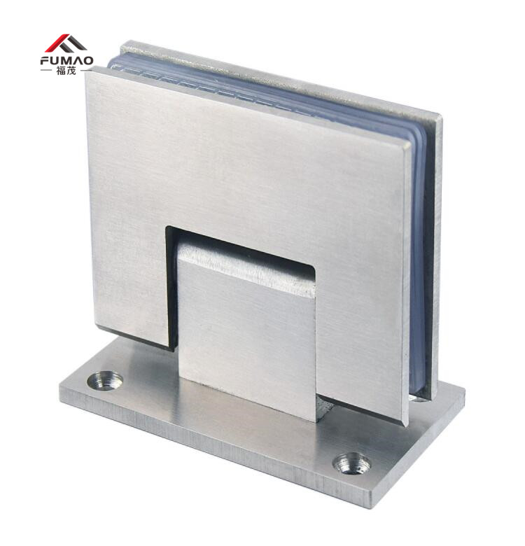 1Pair 135degree 304#SS Frameless Shower Door Glass to Glass Hinge SATIN NICKEL