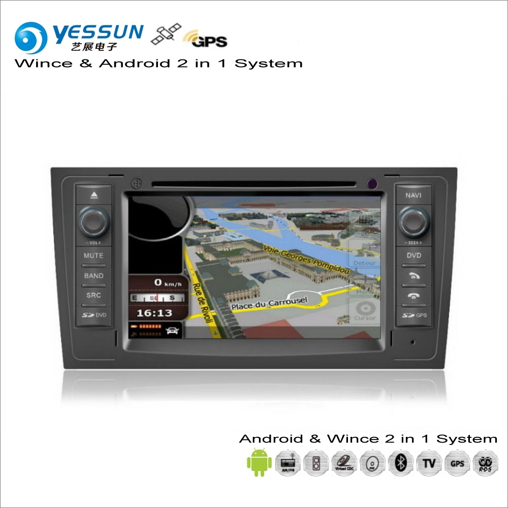 YESSUN For Audi A6 / S6 / RS6 1998~2006 Car Android Multimedia Radio CD DVD Player GPS Navi Map Navigation Audio Video Stereo