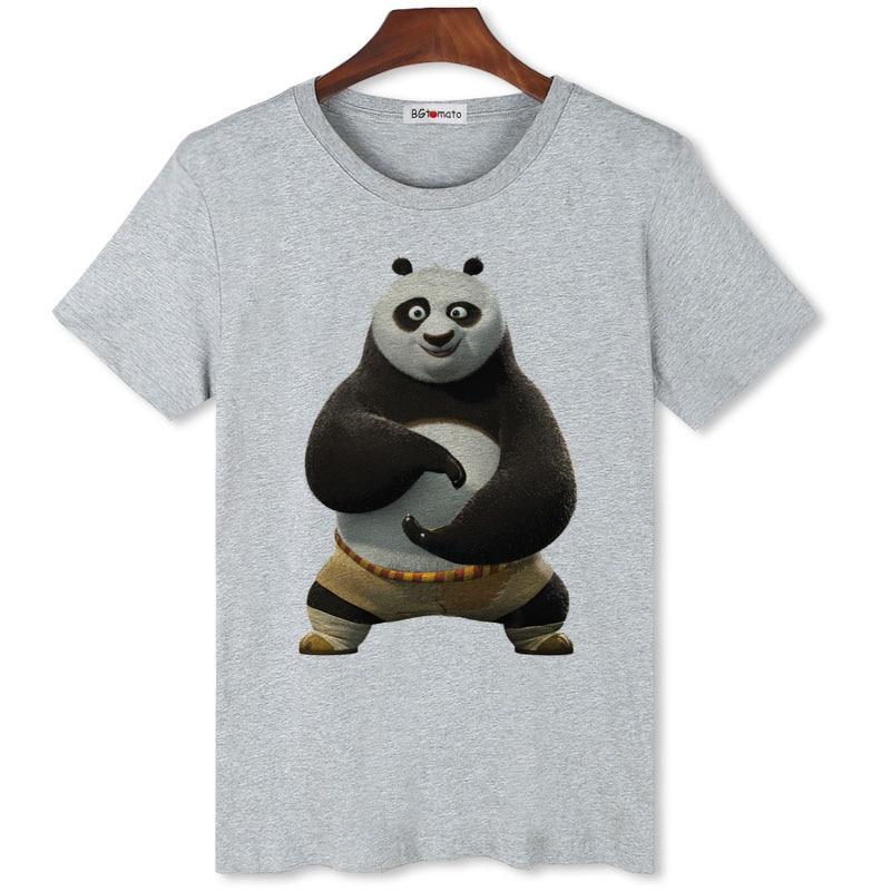BGtomato famoso kungfu Panda TaiChi camiseta hombres novedad moda 3D camiseta de dibujos animados marca buena calidad modal camisetas