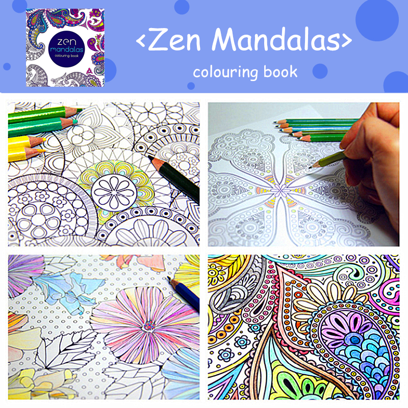 Zen Mandalas Colouring Book Childhood Dream Painting Drawing Coloring Books Painting Colors Johanna Basford Release Pressure