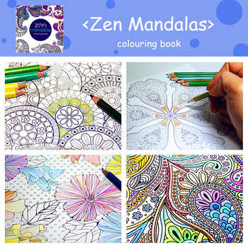 Zen mandalas Colouring Book Childhood Dream Painting Drawing coloring Books Painting Colors Johanna Basford Release Pressure - SALE ITEM All Category