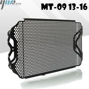 Image 1 - MT 09 fz09 13 16 Siyah Motosiklet Radyatör Guard Koruyucu Izgara ızgara kapağı YAMAHA fz 09 mt 09 13 16 MT 09 FZ09 2013 2016