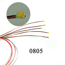 40pcs 0805 SMD  model train HO N OO scale Pre-soldered micro litz wired LED leads wires 20cm hot sale
