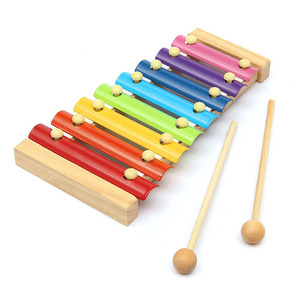 Image 1 - Wooden 8 Tones Multicolor Xylophone Wood Musical Instrument Toys For Baby Kids BM88