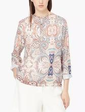 2016 Fashion Massimo ZA Women's Long Sleeve O Neck Blouse Floral Print Loose Vintage Cotton Casual Tops Blusas