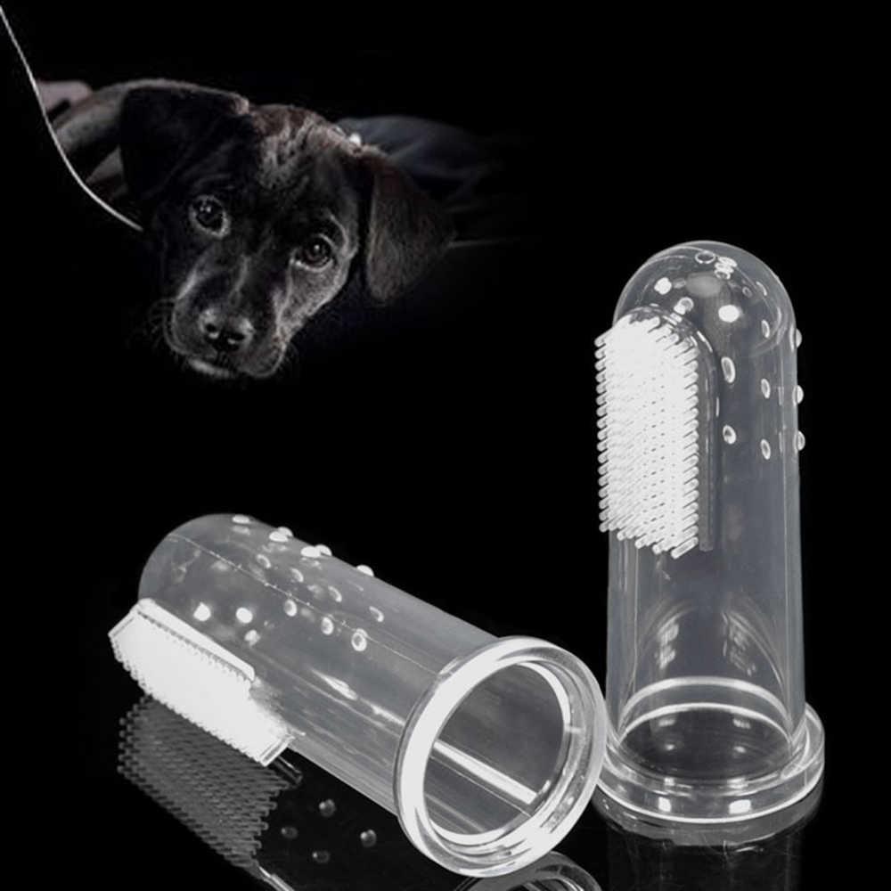 สัตว์เลี้ยงสุนัขแปรงสีฟันฟันลูกสุนัขแปรงนุ่มสุนัขแมวทำความสะอาดแปรงสีฟันปากสุนัขอุปกรณ์เสริม