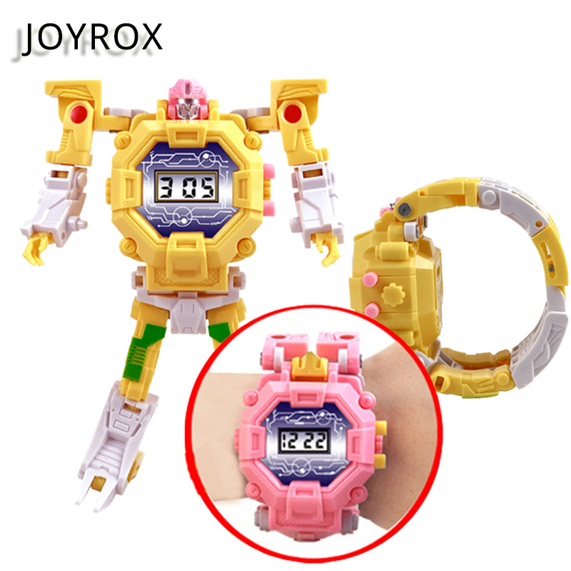 JOYROX Multi-function Children's Watches Robot Electronic Kids Watch Boys Girls Digital Montre Enfant Saati Relogio Child Clock