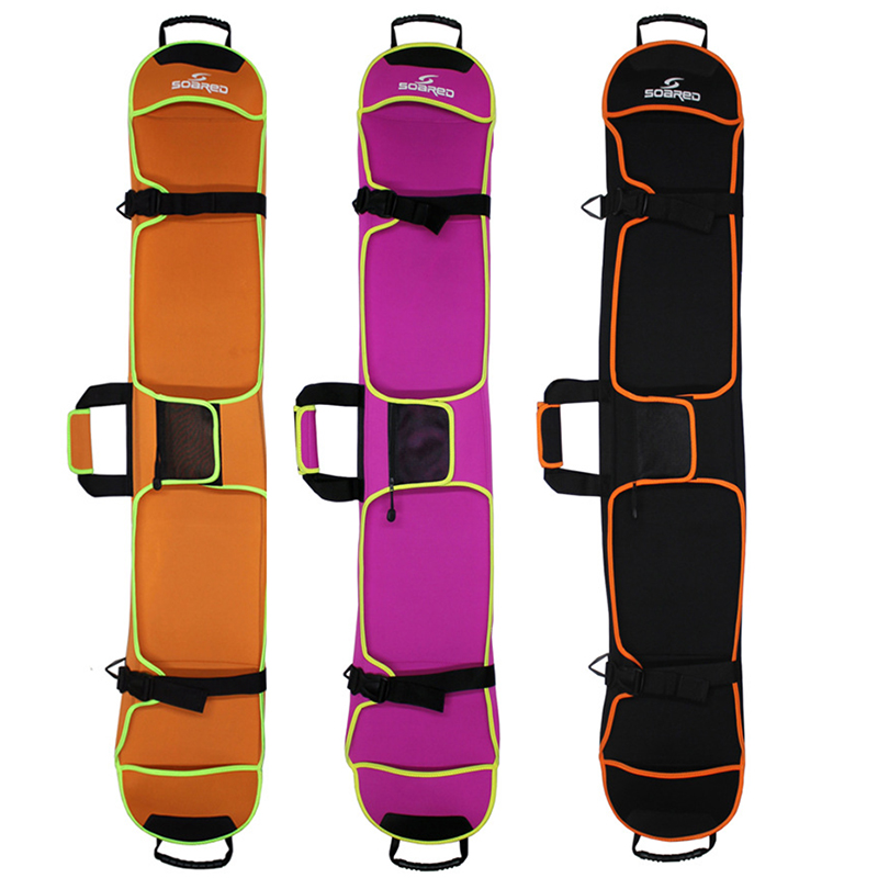 Skiing Ski Pack Portable Carry Shoulder Hand Bag For Snowboard Single Board Waterproof Diving Cloth Case Cover 135cm 145cm 155cm