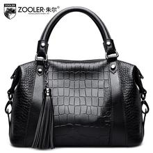 ZOOLER2016 new high-quality luxury brand fashion messenger bag counter genuine leather shoulder bag, women famous brands