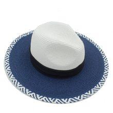 2017 Verão Mulheres Toquilla Palha Panamá Chapéu de Sol Para Elegante  senhora Rainha Floppy Aba Larga Fedora Bobo Shell Praia Su. a0381a2e1e4