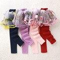 Retail 2016 nueva primavera otoño niños lindos pantalones con tutu falda leggins de algodón para niños niñas